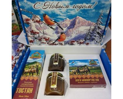 Подарочный набор новогодний «Алга Башкортостан» с медом