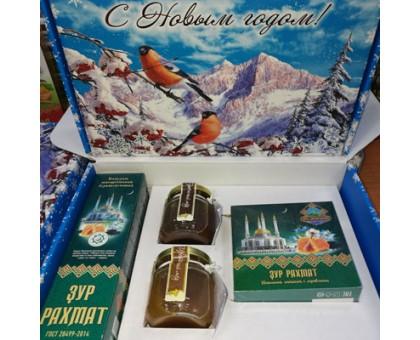 Подарочный набор новогодний «Зур Рахмат» с медом