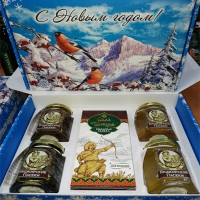 "New year's gift set ""Kushtanash No. 1"" with honey"