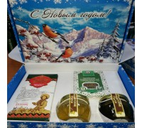"Gift set Christmas ""Castanas No. 2"" with lime and buckwheat honey"