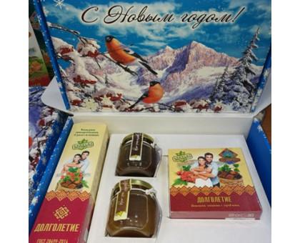 Подарочный набор новогодний с медом «Долголетие»