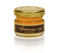 Flower honey, 40 gr.  Cylinder