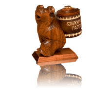 Souvenir with honey Bear with keg 100 gr.