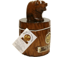 Souvenir with honey Bear on stump 300 gr.