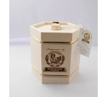Souvenir with honey Barrel white 6 sides 300 gr.