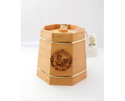 Souvenir with honey dark kadushka 8 sides 300 gr.