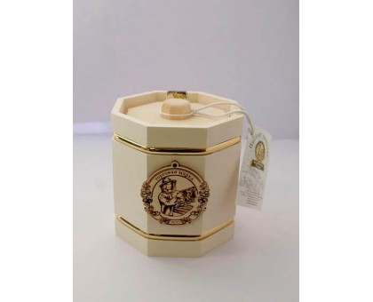 Souvenir with honey Barrel white 8 sides 500 gr.