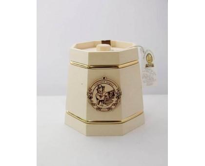 Souvenir with honey White kadushka 8 sides 1000 gr.