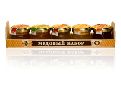 Gift set of 5 kinds of honey for 40 grams