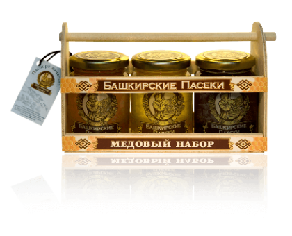 Gift set of 3 kinds of honey for 250 grams