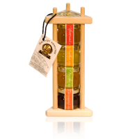 Подарочный набор с мёдом 4х40 грамм Пирамида