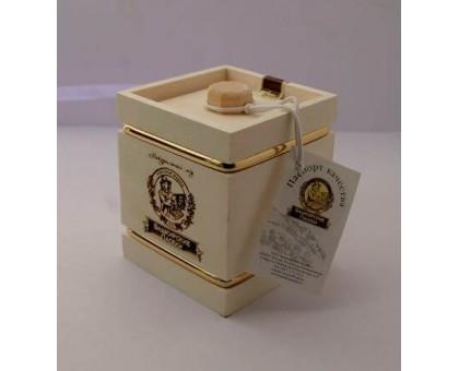 Souvenir with honey Barrel white 4 sides 300 gr.