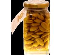 Flower honey with almonds, 180 gr.  Pot
