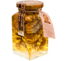 Flower honey with walnut, 220 gr.