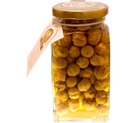 Flower honey with hazelnut, 180 gr.  Pot