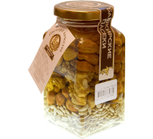 Flower honey with assorted nuts, 360 gr.
