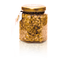 Flower honey with sunflower seeds, 220 gr.