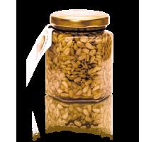 Цветочный мед с семенами подсолнечника, 220 гр.