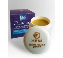 Propolisic cream Ognevka on herbs with propolis and porem